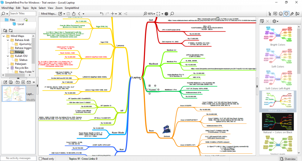 Aplikasi Mind Mapping SimpleMind